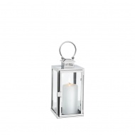 Lampion mini 11x11x30 cm Cilio srebrny