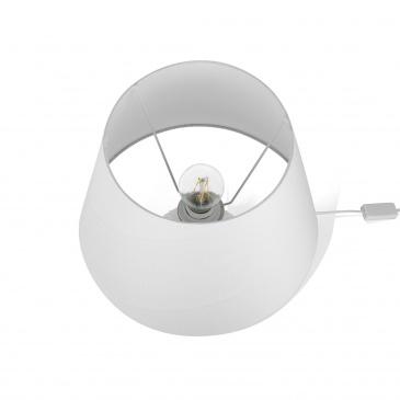 Lampka stołowa biała FERGUS
