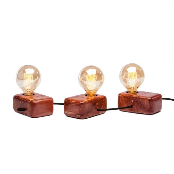 Lampka stołowa ręcznie robiona Brjú Svín Custom Woods CL-017