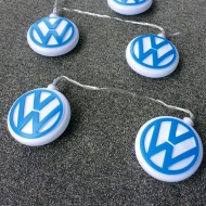 Lampki LED 300 cm BRISA VW niebiesko-białe