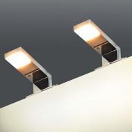 Lampy nad lustro, 2 szt., 2 W, ciepłe, białe światło