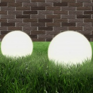 Lampy zewnętrzne LED, 2 szt., kule 20 cm, PMMA