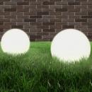 Lampy zewnętrzne LED, 2 szt., kule 40 cm, PMMA