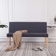 Ławka, 139,5 cm, ciemnoszara, poliester