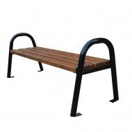 Ławka ogrodowa nowoczesna bez oparcia Fiemar 150cm brązowa