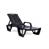 Leżak ogrodowy 67x190x30/85cm Bazkar FLORIDA Antracyt/szary