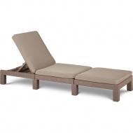 Leżak ogrodowy z poduszką 195cm Allibert Daytona cappuccino/piasek