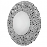 Liv - okrągłe lustro dekoracyjne w kryształowiej ramie lustrzanej