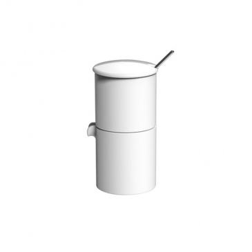 Loveramics Bond - Cukiernica + dzbanek na mleko + łyżeczka - White