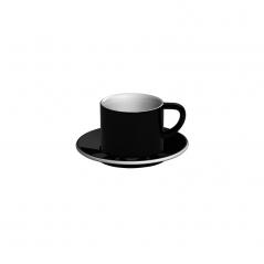 Loveramics Bond - Filiżanka i spodek Cappuccino 150 ml - Black