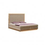 Łóżko kontynentalne Hunt z pojemnikiem na pościel do materaca