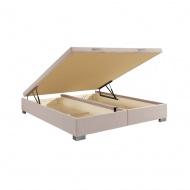 Łóżko kontynentalne Hunt z pojemnikiem na pościel do materac 160x200 cm