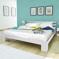 Łóżko sosnowe białe 200 x 160 cm