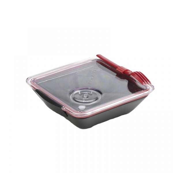 Lunch box BOX APPETIT Black&Blum czarno-czerwony BA004