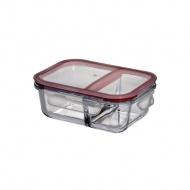Lunch box dwukomorowy 17,5x15x6 cm Kuchenprofi przeźroczyste