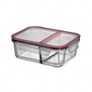 Lunch box dwukomorowy 20x15x7 cm Kuchenprofi przeźroczyste