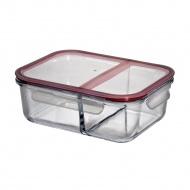 Lunch box dwukomorowy 22,5x17x8 cm Kuchenprofi przeźroczyste