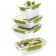 Lunchbox 0,9 L EMSA Bento Box biało-zielony EM-513959