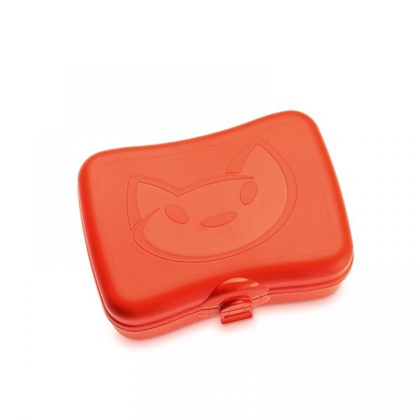 Lunchbox Koziol Miaou pomarańczowo-czerwony KZ-3086633