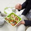 Lunchbox wysoki 0,9 L EMSA Bento Box biało-zielony EM-513960