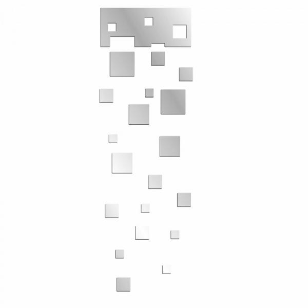 Lustro dekoracyjne SQUARES SET DekoSign Mirror plexi DS-L71