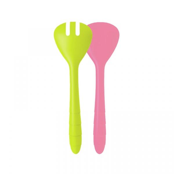 Łyżki do sałaty 26 cm Zak! Designs różowo-zielone 2173-0420
