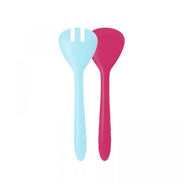 Łyżki do sałaty 27 cm Zak! Designs różowo-niebieskie 2172-0420