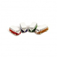 Magnes 3D 5x2,2x2,3 cm BRISA VW BUS pomarańczowy
