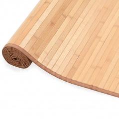 Mata bambusowa na podłogę, 100 x 160 cm, brązowa