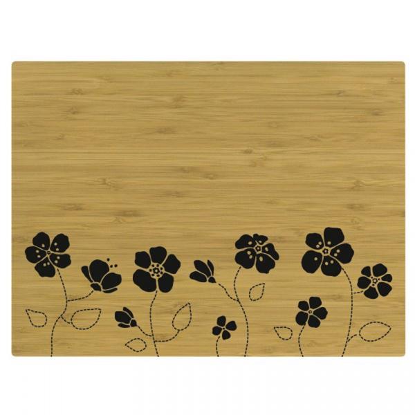 Mata na stół bambusowa Centento Tabeo czarna CO-655612