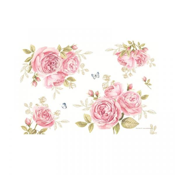 Mata stołowa 45x30cm Nuova R2S Romantic róże 550 CATE
