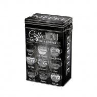 metalowy pojemnik na kawę, 500 g, czarny