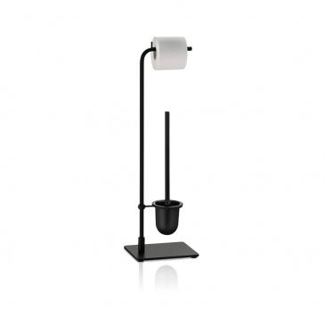 metalowy zestaw do WC, 22 x 22 x 73,5 cm, czarny