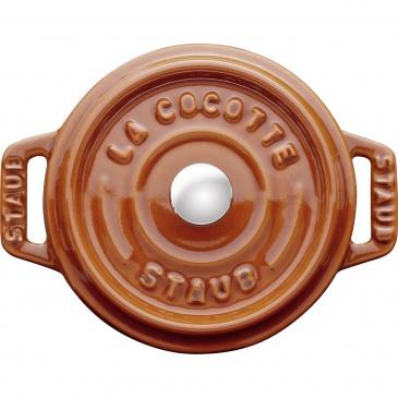 mini garnek żeliwny okrągły 250 ml, cynamonowy