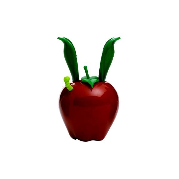 Mini młynek do pieprzu z magnesem 11 cm Chef'n Garden Variety czerwone jabłuszko CH-101-190-094