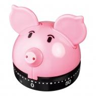 Minutnik świnia 60min Judge Piggy różowy