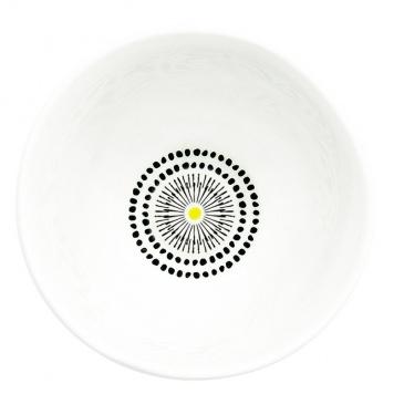 Misa z porcelany 10 cm Nuova R2S Organic żółta