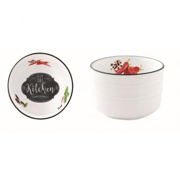 Misa z porcelany 9 cm Nuova R2S Kitchen Basics