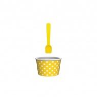 Miseczka na lody 8cm ZAK!DESIGNS żółto-biała