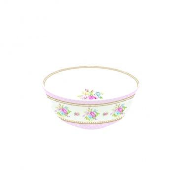 Miseczka z porcelany 11,5 cm Nuova R2S Vintage Bouquet różowa