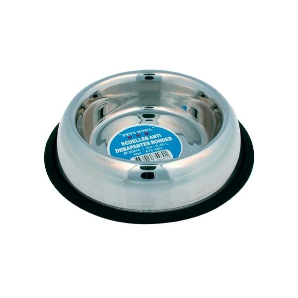 Miska dla psa na gumie Zolux Inox 26 cm 475485