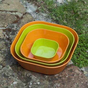 Miska do sałaty 30 cm Vialli Design Siena pomarańczowa