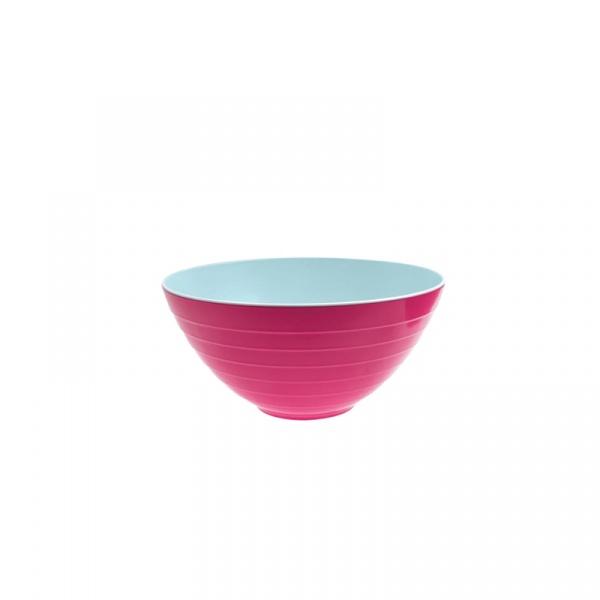 Miska na sałatki 25 cm Zak! Designs mała różowo-niebieska 2172-0320
