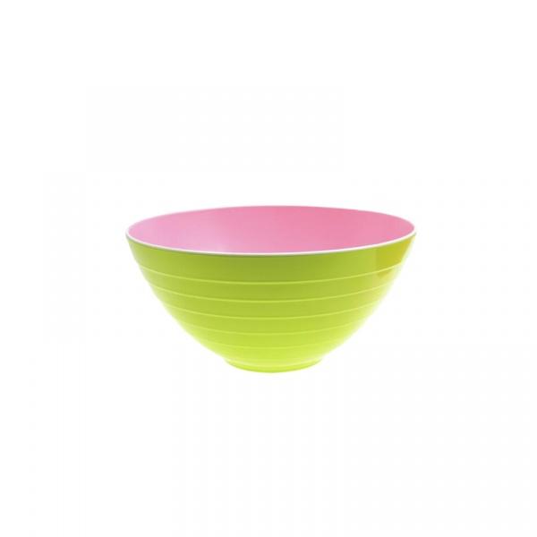 Miska na sałatki 25 cm Zak! Designs mała różowo-zielona 2173-0320