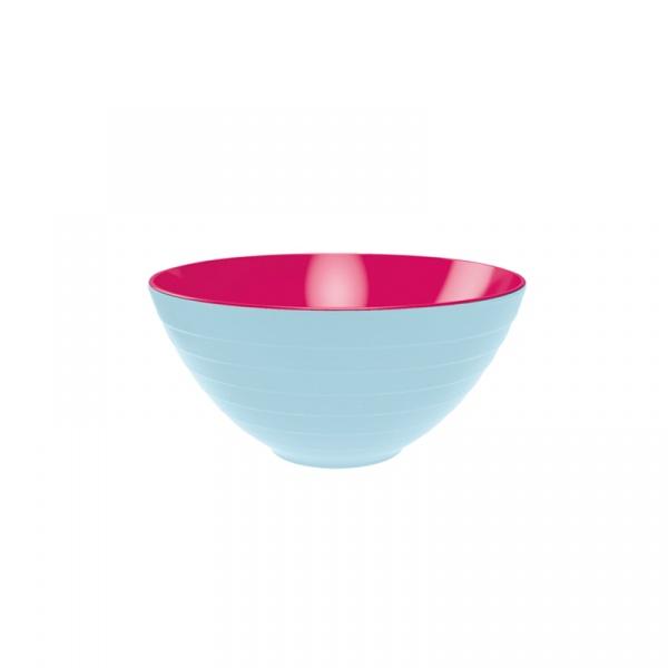 Miska na sałatki 28 cm Zak! Designs duża niebiesko-różowa 2172-0321