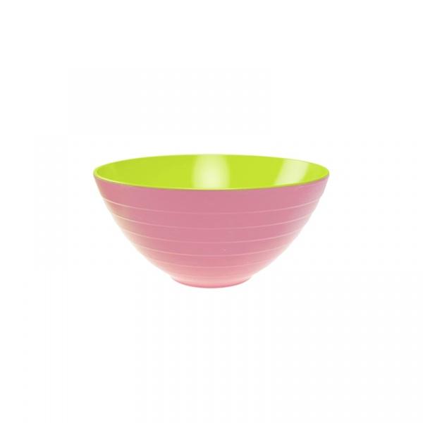Miska na sałatki 28 cm Zak! Designs duża zielono-różowa 2173-0321