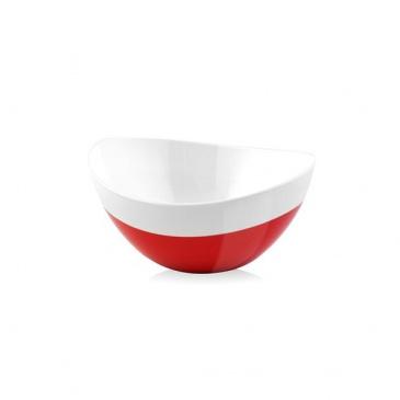 Miska owalna 15 cm Vialli Design Livio Duo czerwona