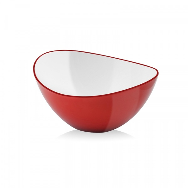 Miska owalna 16 cm Vialli Design Livio czerwona 5905933231338