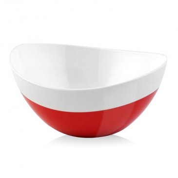Miska owalna 28 cm Vialli Design Livio Duo czerwona