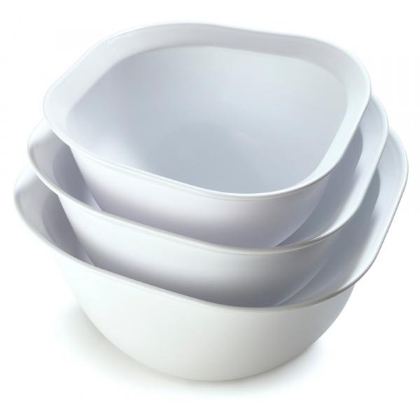 Miski kuchenne 2,3 i 4 L Cuisipro 3 szt. białe CU-747357